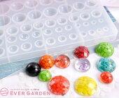 レジン丸半円宝石シリコンモールドネックレスアクセサリーパーツ作成UVレジンオルゴナイトエポキシ樹脂樹脂粘土型抜き型キット道具