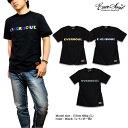 EVERSOUL Tシャツ ストリート メンズ ロゴ プリント シンプル ブラック 黒 ブランド / ラメプリント、箔プリント、蓄光プリントなど特殊技法でプリントされたロゴプリントTシャツ!