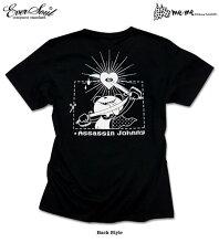 殺し屋ジョニーキャラクタープリントTシャツ半袖メンズキッズ:イラストレーター・アーティスト「タカハシヒロユキ」と「EVERSOUL」&「殺し屋ジョニー」のトリプルコラボTシャツ!