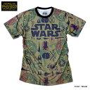 スターウォーズ Tシャツ メンズ 半袖 STARWARS カーキ 総柄 プリント キャラクター グッズ ダースベイダー