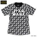 スターウォーズ 総柄 Tシャツ メンズ 半袖 STARWARS ブラック 黒 プリント キャラクター グッズ スターファイター ストリート