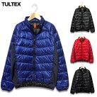 この軽さと暖かさは感動的!ライトダウンジャケットメンズライトダウンダウンジャケット軽量防寒大きいサイズ「TULTEX」のポーチに収納出来て旅行に便利なライトダウンジャケット!