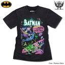 バットマン Tシャツ グッズ メンズ tシャツ BATMAN アメコミ : ハードウォッシュ加工の絶妙な色落ちがビンテージ感抜群のカラー箔バットマンロゴプリントTシャツ!