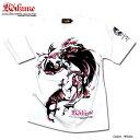 和柄 Tシャツ 鯉 女の子 柄 メンズ 日本製 ガールプリント tシャツ 和柄Tシャツ「Anarchist JAPAN x EVERSOUL」の和柄コラボTシャツ!