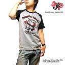 ラグラン Tシャツ 半袖 メンズ キャラクター プリント かわいい tシャツ 日本製「Devil Johnny Ragran SST」デビルジョニーラグランTシャツ!
