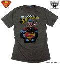 スーパーマン Tシャツ スーパーマン tシャツ SUPERMAN ×ミニットマースのアメコミプリントコラボ半袖メンズTシャツ!【グッズ】