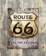 アンティーク ティン プレート ルート66 サインプレート 壁掛け TIN PLATE ROUTE66 アメリカン 看板 カンバン