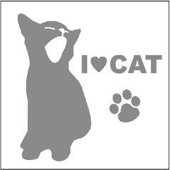 猫独特のポーズがステッカーに♪はっきり言って可愛すぎる1枚っ♪□猫ステッカー(あくび) (...