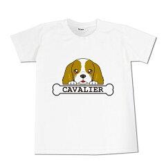 【オーナー用】フェイスTシャツ キャバリア/CAVALIER[オリジナルグッズのエブリーペット]