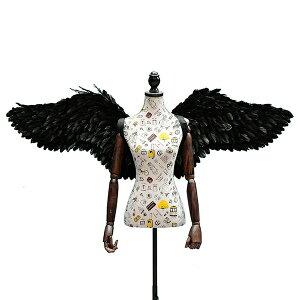 天使の羽 コスプレ道具 羽 翼 wing ウイング ホワイト ブラック 80cm 妖精 悪魔 ファッションショー パーティーグッズ 撮影 cosplay用 コスプレ COSPLAY コスチューム ハロウィン クリスマス lg013h2h2h