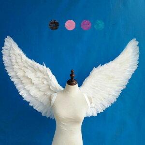 天使 羽 コスプレ道具 羽 翼 wing ウイング ホワイト ブラック ブルー ピンク パープル 78*130cm 天使みたい 妖精 悪魔 ファッションショー パーティーグッズ 撮影 ステージ道具 イベント 文化祭