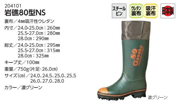 ミツウマ 岩礁80NS 岩礁80型NS 岩礁 鋼鉄製スパイクピン 林業 山菜取り 釣り ワカサギ釣り レインブーツ 防水 ラバーブーツ 長靴