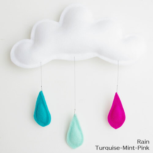 The Butter Flying Rain 20cm Turquoise Mint Pink (バターフライング)