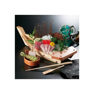 ●Free shipping! You are the board head [the container of professional specifications], too! Six points of container sets [the wasabi / sashimi does not gain it!] in the bloom of wooden Funagata / 活造 り splinter