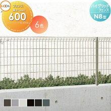 メッシュフェンス LIXIL リクシル  【ハイグリッドフェンスN8型 フェンス本体 H600】 ガーデン DIY  塀 壁 囲い エクステリア TOEX スチール