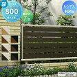 アルミフェンス YKKap 【ルシアスフェンスF04型 フェンス本体 H800】横半目隠しタイプ UFE-F04 ガーデン DIY 塀 壁 囲い エクステリア