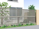 LIXIL(TOEX) ライシスフェンス 2型 細たて桟 アルミ多段柱...
