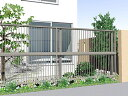 LIXIL(TOEX) プレスタフェンス 2型 細たて桟 アルミ多段柱...