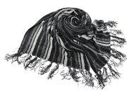 マフラー レーヨン ストライプ ブラック ホワイト レディース プレゼント