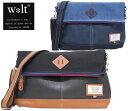 【w*lt walt ウォルト】2トーンジッパー口折れショルダーバッグ...