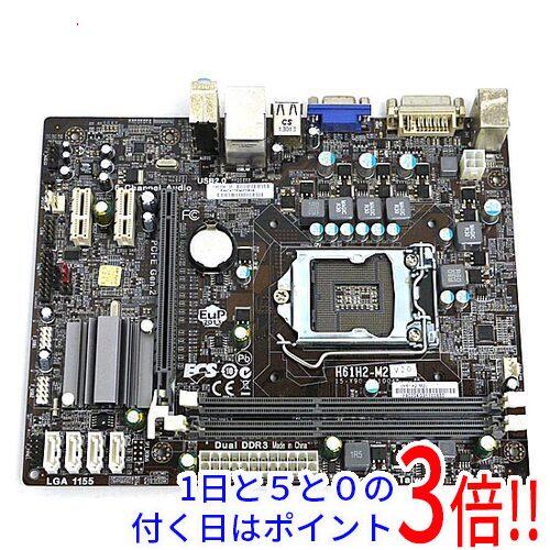 【中古】ECS製 MicroATXマザーボード H61H2-M2 (V2.0) LGA1155画像