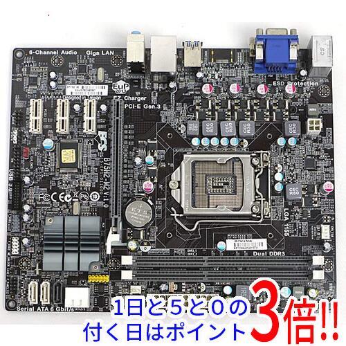 【中古】ECS製 MicroATXマザーボード B75H2-M2 (V1.0)画像
