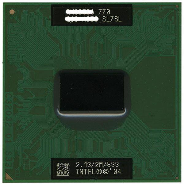 【中古】Pentium M 770 2.13GHz FSB533MHz L2 2M Dothan SL7SL