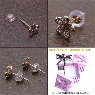 K10PGピアスアメジストダイヤモンドLP01435