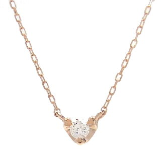 K10PGネックレスダイヤモンド0.05ct515660