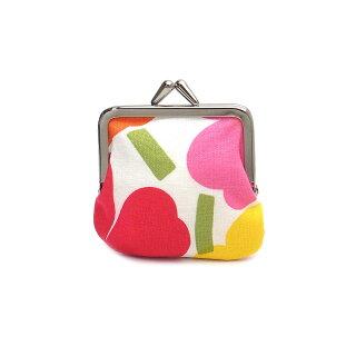 マリメッコ財布がま口ポーチウニッコMARIMEKKO34773201ホワイト/オレンジ【あす楽】