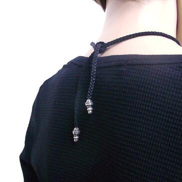 CHROME HEARTS クロムハーツ ネックレス ネックレス ボローチップ 革紐