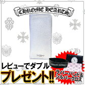CHROME HEARTS クロムハーツ iPhone アイフォン ケース WALLET-SLIP CASE IPHONE BLK MID WT LTHER CH SCROLL LABEL シルバー【送料無料/一部離島を除く】 【即日発送】