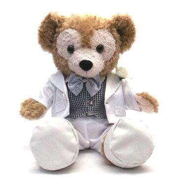 ダッフィー ウェディング ぬいぐるみ コスチューム Sサイズ用 wedding-white-check 【あす楽】 エクセルワールド プレゼントにも かわいい