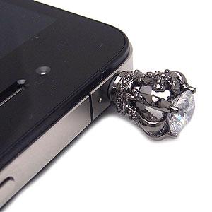 携帯ジュエル/スマートフォンピアス/スマホピアス/SI11-0004BKブラック