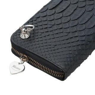 bizarreビザール財布マーべラスパイソンラウンドジップロングウォレット(コブラドロップハンドル)ブラックLWP035BK
