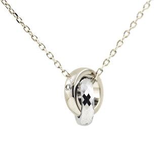 金属アレルギー対応ノンアレルギーステンレスダイヤモンドネックレス可愛い人気ギフトプレゼントご褒美NP-001