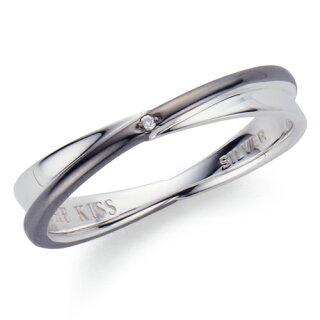 THEKISS/ザ・キッス/シルバーペアリングメンズダイヤモンドブラックロジウムコーティングSR6046DM