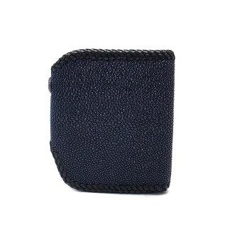 WOLFMANB.R.Sウルフマン財布ショートウォレットウルフクロー二つ折り財布スティングレイかがりNW-W-209BL【送料無料でお届け】
