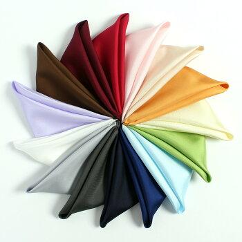 日本製シルクポケットチーフ/16匁ツイルシルク/30cm✕30cm