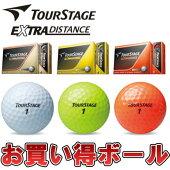 ブリヂストンTOURSTAGE[ツアーステージ]EXTRADISTANCEゴルフボール(1ダース:12球)