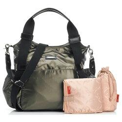 storksakストークサックオリビアgreyグレーマザーズバッグ正規品ママバッグ軽量オムツ替えシート付2wayショルダーベルト
