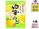 ライオン菓子 ゆずのど飴 73g×4袋 賞味期限2022/0