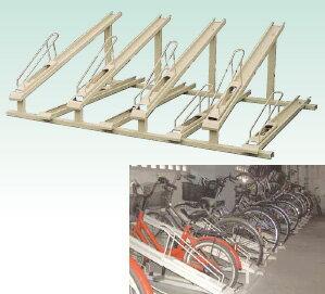 集合住宅等の自転車場として、お客様組立商品/送料無料自転車置場 上段ラック台車式 下段ラッ...