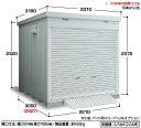 イナバ物置 バイク保管庫 FXN-2230HY(一般型・床付タイプ・ハイルーフ)バイクガレージ 屋外 収納庫 倉庫