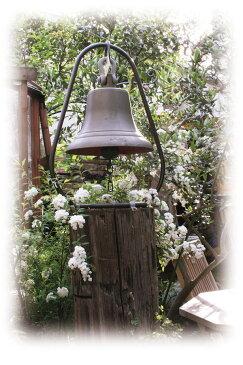 アンティーク鐘 すえ置き型(99025)(ジャービス商事)デコレーション エクステリア ガーデンオーナメント 据え置き型 ベル 真鍮