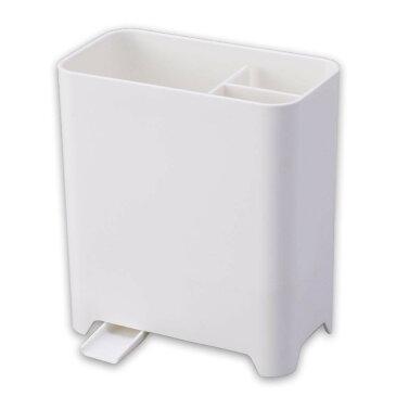 水が流れるキッチンツール立て シンク 収納 カトラリースタンド 仕切り 菜箸 散らかり 排水 台所 整理整頓 片付け スリム 水切りかご はし立て