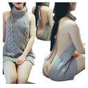 【メール便送料無料】セーター レディース 背中開きセーター