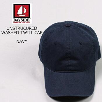 BAYSIDE(ベイサイド)UNSTRUCUREDWASHEDTWILLCAP/NAVY