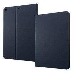 送料無料 iPad ケース 第7世代 ダークネイビー レザーケース スタンド機能 側面も保護 単色 シンプル 薄型 オシャレ 軽量 母の日