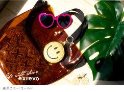 【スマイルコインケース】キラキラスマイリーコインケースキーホルダー】バッグチャームレディースラメ鍵小物入れ小銭入れミニ財布